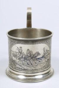 Teeglashalter, Silber, 84 Zolotnik, Gustav Klingert, Moskau, um 1888