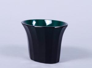 Jugendstil-Vase, Entwurf Josef Hoffmann (1870, Pirnitz - 1956, Wien), Ausführung Meyr's Neffe für Wiener Werkstätte, um 1916