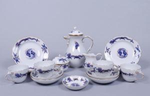 """Kleines Kaffeeservice, Meissen, 20.Jh., Dekor """"reicher blauer Drache"""", 16-tlg."""