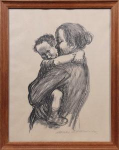 Käthe Kollwitz Käthe (1867 in Königsberg (Preußen) - 1945 in Moritzburg bei Dresden) Mutter mit Jungen, 1931 o. 1933, Kreidelithographie auf Papier