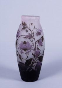 Jugendstil-Vase, Arsale, Vereinigte Lausitzer Glaswerke, Weißwasser, 1918-1928, H 31cm