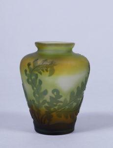 Kleine Jugendstil-Vase, Emile Gallé, Nancy, um 1900/05, H 9cm