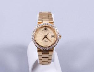 """Damen-Armbanduhr, 750er GG, Baume Mercier, Modell """"Riviera"""", ca. 61,92g brutto, Zuschlag: 1900,-€"""