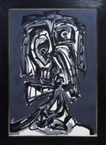"""Antonio Saura, """"Dame"""", 1985, Mischtechnik auf Papier, ca. 123x90cm, Zuschlag: 21000,-€"""